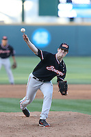 Sam Tweedt (12) of the Oregon State Beavers pitches during a game against the UCLA Bruins at Jackie Robinson Stadium on April 4, 2015 in Los Angeles, California. UCLA defeated Oregon State, 10-5. (Larry Goren/Four Seam Images)
