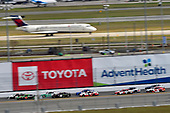 #66: Timmy Hill, Motorsports Business Management, Ford Mustang VSI Racing / RoofClaim.com and #19: Brandon Jones, Joe Gibbs Racing, Toyota Supra Interstate Batteries