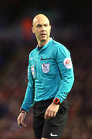 Referee Mr Anthony Taylor during the Barclays Premier League Match between Liverpool and Swansea City played at Anfield, Liverpool on 29th November 2015