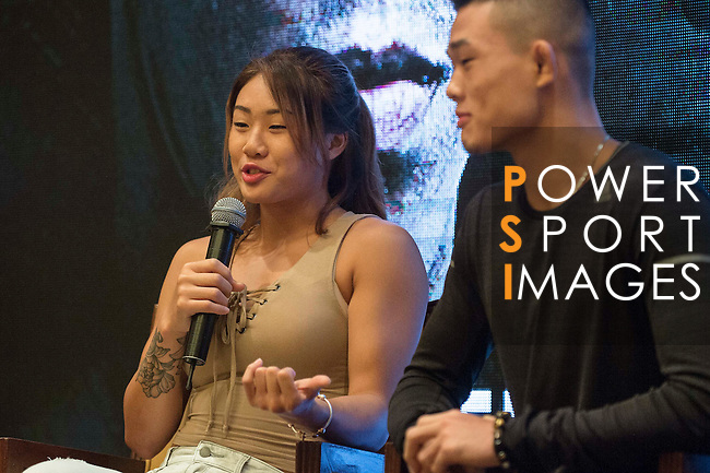Angela Lee, fighter of One Championship - Heroes of the World during the press conference on 04 August 2016 held at Conrad Hotel, Hong Kong, China. Photo by Marcio Machado / Power Sport Images
