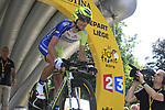 Ivan Basso (ITA) Liquigas-Cannondale powers off the start ramp of the Prologue of the 99th edition of the Tour de France 2012, a 6.4km individual time trial starting in Parc d'Avroy, Liege, Belgium. 30th June 2012.<br /> (Photo by Eoin Clarke/NEWSFILE)