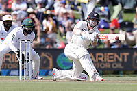 Henry Nicholls of New Zealand bats during day two of the second International Test Cricket match between the New Zealand Black Caps and Pakistan at Hagley Oval in Christchurch, New Zealand on Monday, 4 January 2021. Photo: Martin Hunter / lintottphoto.co.nz