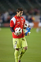 CARSON, CA – JANUARY 22: Chile goalie Raul Olivares (12) before the international friendly match between USA and Chile at the Home Depot Center, January 22, 2011 in Carson, California. Final score USA 1, Chile 1.