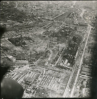 BNPS.co.uk (01202) 558833. <br /> Pic: Spink&Son/BNPS<br /> <br /> Pictured: An image from one of Tubby's raids over Cologne in Germany<br /> <br /> The bravery medals of a larger-than-life hero Pathfinder pilot who clocked up a staggering 100 bombing raids have emerged for sale for £32,000.<br /> <br /> Wing Commander Sidney 'Tubby' Baker, who was known for his love of food, drink and cigarettes, repeatedly risked his life in attacks on heavily defended German and Italian targets.<br /> <br /> Upon returning to his airbase after completing his century, the No 635 Squadron commander was handed a well-earned pint of beer and 'grounded with immediate effect'.<br /> <br /> As was his custom, he downed the drink and puffed on a celebratory cigarette.
