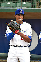 Theo Alexander (25) of the Ogden Raptors prior to the game against the Grand Junction Rockies during Opening Night of the Pioneer League Season on June 16, 2014 at Lindquist Field in Ogden, Utah. (Stephen Smith/Four Seam Images)