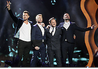 20/11/13<br /> Boyzone  (L-R)Keith Duffy,Ronan Keating ,Mikey Graham and Shane Lynch.pictured performing at the Cheerios Childline Concert at the O2 Dublin this eveningð. <br /> Pic Collins Photos