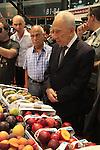 Israeli President Shimon Peres visits the Fresh AgroMashov 2013 International Fresh Produce Summit & Exhibition in Tel Aviv