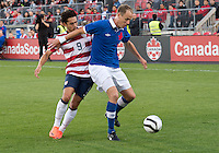 03 June 2012: US Men's National Soccer Team forward Herculez Gómez #9 in action during an international friendly soccer match between the United States Men's National Soccer Team and the Canadian Men's National Soccer Team at BMO Field in Toronto..The game ended in 0-0 draw..
