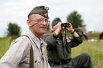 German infantry keep watch from thier front-line positions during the Ponderosa Wartime Weekend Heckmondwike<br /> 10th July 2011<br /> Image © Paul David Drabble