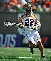 23 August 2008: Rochester Rattlers' Midfielder Casey Powell in action against the Philadelphia Barrage during the Semi-Finals of the Major League Lacrosse Championship Weekend at Harvard Stadium in Boston, MA. The Rattlers defeated the Barrage 16-15 in sudden death overtime, advancing to the upcoming Championship Game...Mandatory Photo Credit: Ed Wolfstein Photo
