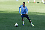 Atletico's Mandzukic during a training session the day before quarterfinal first leg Champions League soccer match against Real Madrid at Vicente Calderon stadium in Madrid, Spain. April 13, 2015. (ALTERPHOTOS/Victor Blanco)