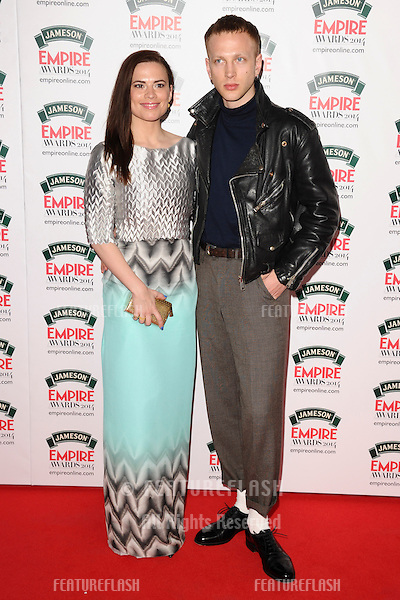 Hayley Atwell and boyfriend, Evan Jones<br /> arives for the Empire Magazine Film Awards 2014 at the Grosvenor House Hotel, London. 30/03/2014 Picture by: Steve Vas / Featureflash