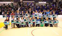 03-01-12, Tennis, Rotterdam, Topsportcentrum, Selection ballkids fot the upcomming ABMAMROWTT, All 25 winning kids with Tournament Director Richard Krajicek