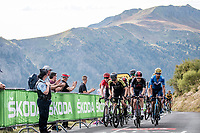 grupetto up the Puy Mary (uphill finish)<br /> <br /> Stage 13 from Châtel-Guyon to Pas de Peyrol (Le Puy Mary) (192km)<br /> <br /> 107th Tour de France 2020 (2.UWT)<br /> (the 'postponed edition' held in september)<br /> <br /> ©kramon