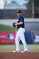 AZL Brewers Blue starting pitcher Nick Belzer (28) during an Arizona League game against the AZL Rangers on July 11, 2019 at American Family Fields of Phoenix in Phoenix, Arizona. The AZL Rangers defeated the AZL Brewers Blue 5-2. (Zachary Lucy/Four Seam Images)