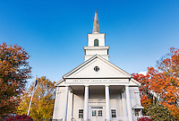 Charming autumn church, Jaffrey, New Hampshire, USA