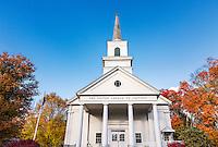 Charming autumn church, Jaffrey, New Hampshire, USA