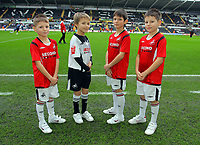 ATTENTION SPORTS PICTURE DESK<br /> Pictured: Swansea City Mascots <br /> Re: Coca Cola Championship, Swansea City Football Club v Leicester City at the Liberty Stadium, Swansea, south Wales. Saturday 16 January 2010