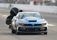Oct 2, 2020; Madison, Illinois, USA; NHRA factory stock driver David Kramer during qualifying for the Midwest Nationals at World Wide Technology Raceway. Mandatory Credit: Mark J. Rebilas-USA TODAY Sports
