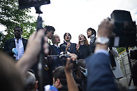 Manifestation en hommage a George Floyd place de la Republique a Paris - 09 06 2020 - Jeanne Added; Camelia Jordana; Pomme<br /> ©Lionel GUERICOLAS - MPP/ DALLE