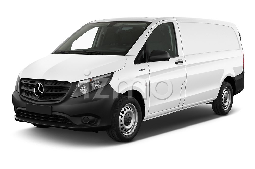 2020 Mercedes Benz eVito Base 4 Door Cargo Van Angular Front automotive stock photos of front three quarter view