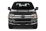 Car photography straight front view of a 2020 Ford F-150 Lariat 4 Door Pick-up Front View
