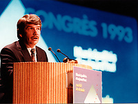 Montreal (QC) CANADA file photo - 1993 - Jean Dore ,congres Union des Municipalites du Quebec (UMQ)
