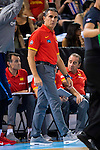 Spain's basketball coach Sergio Scariolo during the  match of the preparation for the Rio Olympic Game at Madrid Arena. July 23, 2016. (ALTERPHOTOS/BorjaB.Hojas)