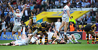 Exeter Chiefs players celebrate victory in the Premiership Rugby Final at Twickenham Stadium on Saturday 27th May 2017 (Photo by Rob Munro)