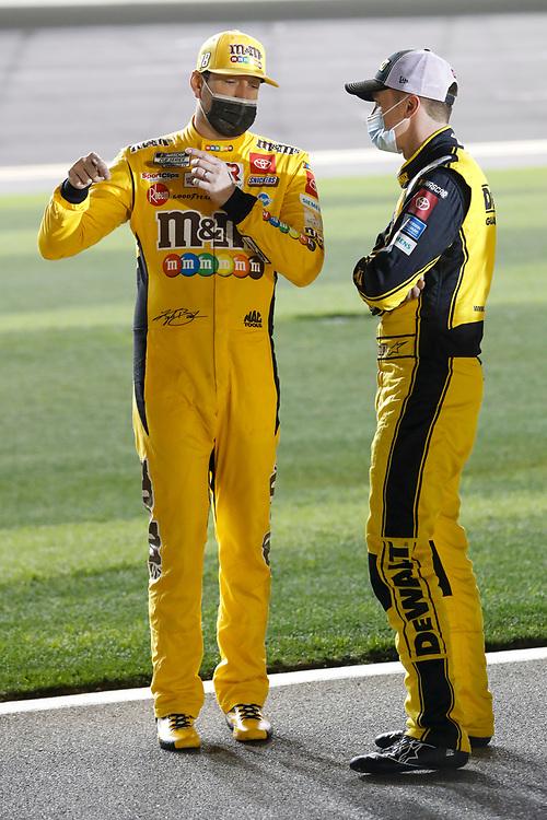 #18: Kyle Busch, Joe Gibbs Racing, Toyota Camry M&M's, #20: Christopher Bell, Joe Gibbs Racing, Toyota Camry DEWALT