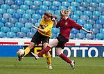Varsity XV Women's Football 1st - University of Sheffield v sheffield Hallam University (mroon) at Hillsborough Stadium home to Sheffield Wednesday FC 06/04/2011