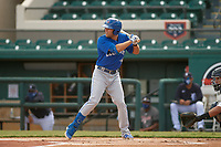 Toronto Blue Jays Cullen Large (22) bats during a Florida Instructional League game against the Detroit Tigers on October 28, 2020 at Joker Marchant Stadium in Lakeland, Florida.  (Mike Janes/Four Seam Images)