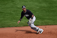 New York Yankees shortstop Cito Culver (96) during a Spring Training game against the Pittsburgh Pirates on March 5, 2015 at McKechnie Field in Bradenton, Florida.  New York defeated Pittsburgh 2-1.  (Mike Janes/Four Seam Images)