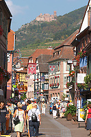 main street ribeauville alsace france