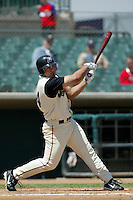 May 29 2004: Carlos Quentin of the Lancaster JetHawks in action at Clear Channel Stadium in Lancaster,CA.  Photo by Larry Goren/Four Seam Images