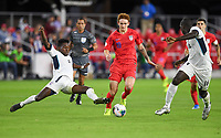 WASHINGTON, D.C. - OCTOBER 11: Josh Sargent #19 of the United States moves with the ball during their Nations League game versus Cuba at Audi Field, on October 11, 2019 in Washington D.C.