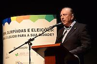SAO PAULO, 01 DE AGOSTO DE 2012 - ELEICOES 2012 - Candidato Jose Maria Eymael  durante campanha Copa, Olimpiadas, Eleicoes - Qual o legado para sua cidade, na manha desta quarta feira, no auditorio do sesc Consolacao, regiao central da capital. FOTO: ALEXANDRE MOREIRA - BRAZIL PHOTO PRESS