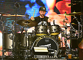 WEST PALM BEACH, FL - AUGUST 05: Sal Giancarelli of Staind performs at The iTHINK Financial Amphitheatre on August 5, 2021 in West Palm Beach Florida. Credit Larry Marano © 2021