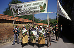 Grovely Forest Rights Great Wishford or Wishford Magna, Wiltshire Annual village event upholding Commoners ancient rights 1970s UK