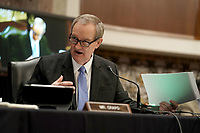 """United States Senator Mike Crapo (Republican of Idaho) questions former US Deputy Attorney General Rod Rosenstein during a US Senate Judiciary Committee hearing to discuss the FBI's """"Crossfire Hurricane"""" investigation on Wednesday, June 3, 2020.<br /> Credit: Greg Nash / Pool via CNP/AdMedia"""