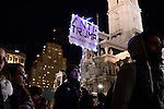 For a third day in a hundreds participate in the Anti-Trump protests, in Center City Philadelphia, PA., on Nov. 11, 2016.