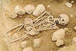 Historical alemannic grave of the 7. Century in Eschen, Liechtenstein. Archaeology, Archaeological site, Archeology, Archeological site
