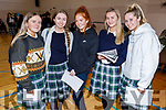 Presentation Secondary school students Amy O'Sullivan, Sarah Cleary, Ava Buckley, Ashley Clifford and Chloe Sugrue attending the 3rd Level Peer Event where the Past Pupils give a talk to the present student on Friday.