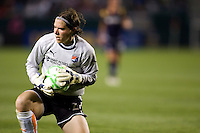 Sky Blue goalkeeper Jenni Brannam saves the ball. The LA Sol defeated Sky Blue FC 1-0 at Home Depot Center stadium in Carson, California on Friday May 15, 2009.   .