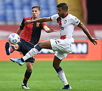 Miha Zajc-Junior Messias <br /> Serie A football match between Genoa CFC and FC Crotone at Marassi Stadium in Genova (Italy), September 20th, 2020. Photo Image Sport / Insidefoto