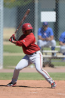 Arizona Diamondbacks shortstop Jamie Westbrook (5) during an Instructional League game against the Chicago Cubs on October 5, 2013 at Salt River Fields at Talking Stick in Scottsdale, Arizona.  (Mike Janes/Four Seam Images)