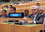 Opening of GA 72 2017 PM<br /> <br /> the Republic of Armenia delegate