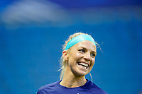 LE HAVRE, FRANCE - APRIL 13: Julie Ertz #8 of the United States before a game between France and USWNT at Stade Oceane on April 13, 2021 in Le Havre, France.