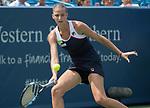 August 19,2017:   Karolina Pliskova (CZE) loses to Garbine Muguruza (ESP) 6-3, 6-2, in the semifinals at the Western & Southern Open being played at Lindner Family Tennis Center in Mason, Ohio.  ©Leslie Billman/Tennisclix/CSM