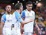 BRISBANE, AUSTRALIA - OCTOBER 30: Neil Kilkenny and Tim Cahill of Melbourne during the round 5 Hyundai A-League match between the Brisbane Roar and Melbourne City at Suncorp Stadium on November 4, 2016 in Brisbane, Australia. (Photo by Patrick Kearney/Brisbane Roar)